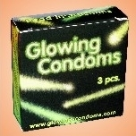 GLOWING CONDOMS leuchtend 3er