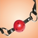 Ball Gag breathable rot